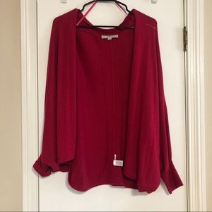 LOFT cardigan in cranberry